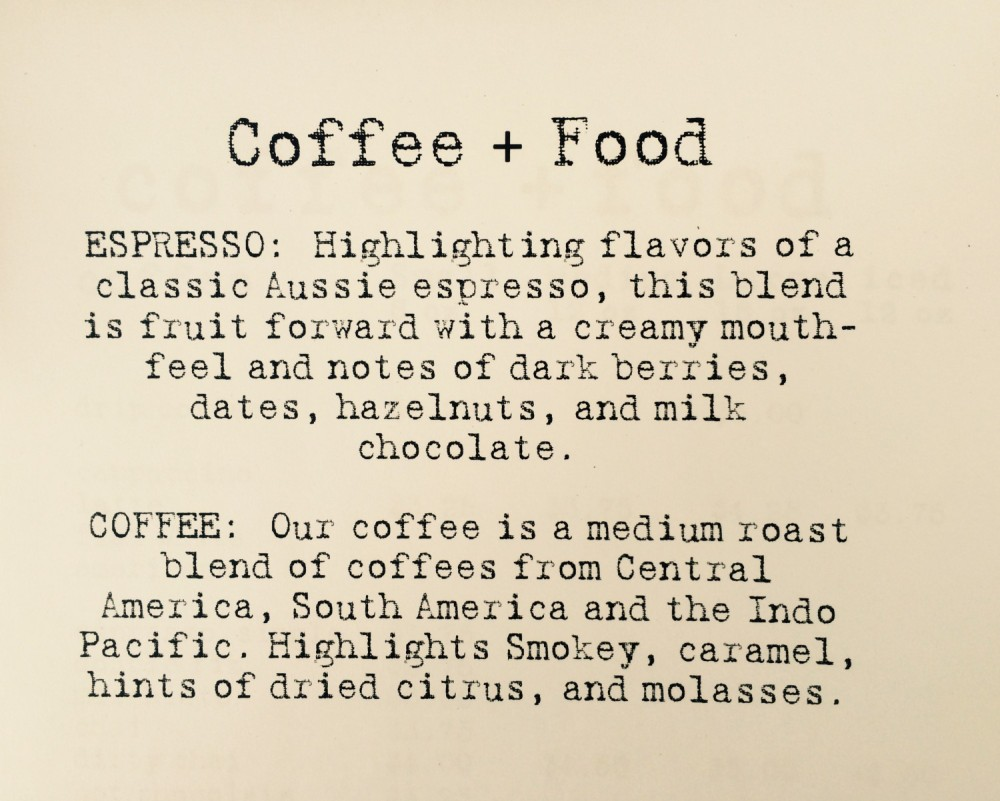 coffee description
